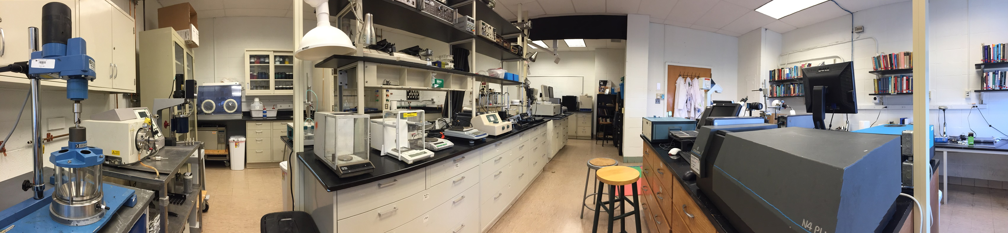 Preparation and Evaluation Lab Panoramic Photo Showing Various Pieces of Equipment