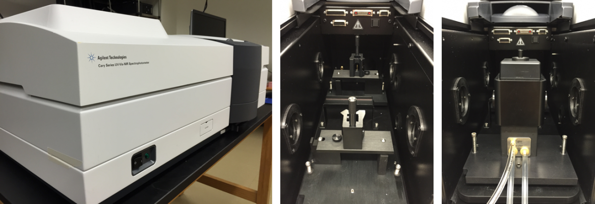 Photo of UV-visible IR absorption spectrometer, model Cary 5000 from Aligent Technologies