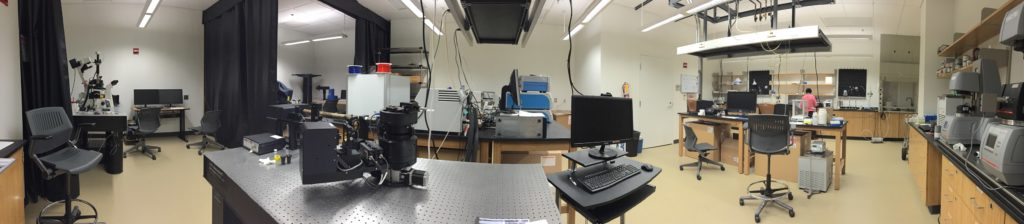 Characterization Lab Panoramic Photo Showing Various Pieces of Equipment